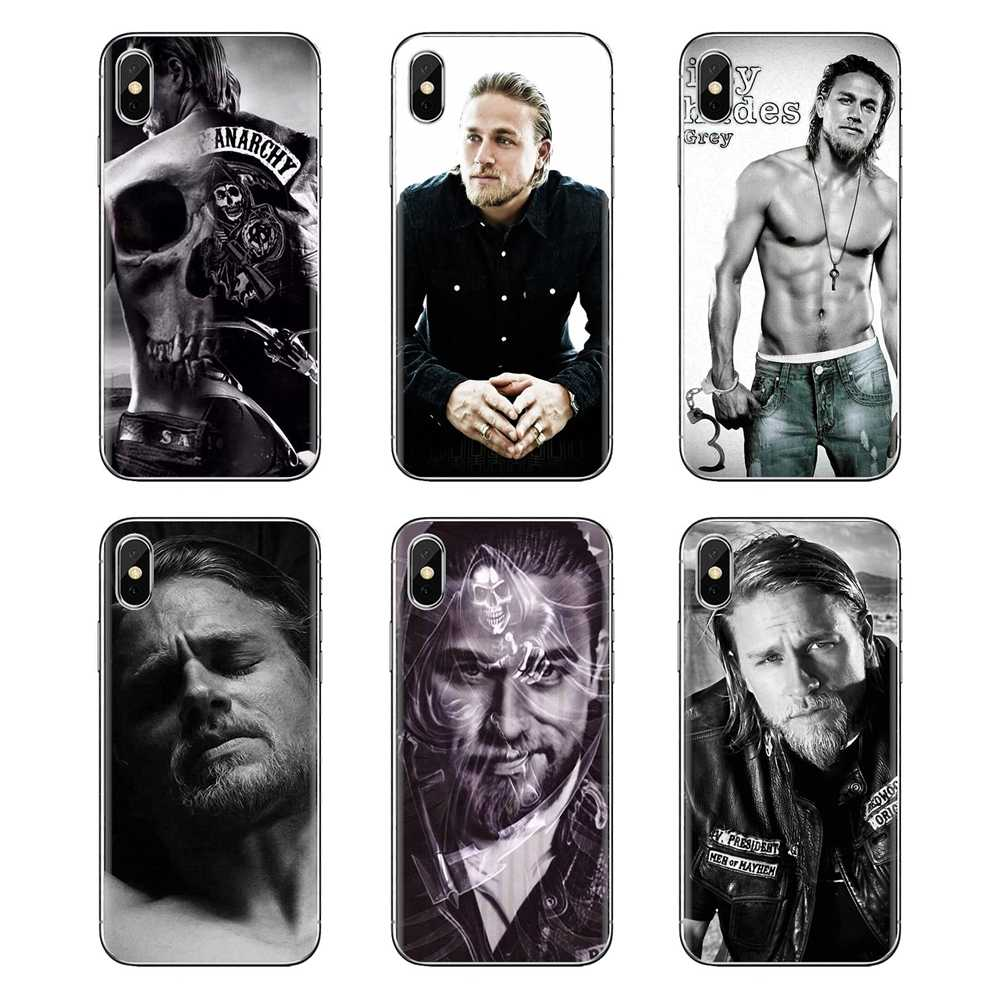 Charlie Hunnam Jax Teller เซ็กซี่ชายสำหรับ iPod Touch Apple iPhone 4 4S 5S SE 5C 6 6S 7 8 X XR XS Plus MAX Transparent TPU Housing