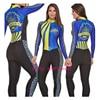 Laranja longo de mangas compridas camisa ciclismo skinsuit 2020 mulher ir pro mtb bicicleta roupas opa hombre macacão 9d gel almofada skinsuit 10