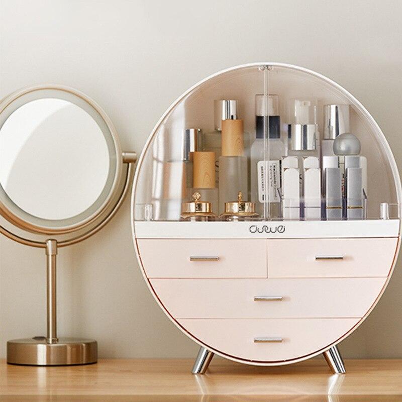 Banheiro acrílico moda maquiagem organizador máscara gaveta escritório escova batom titular desktop jóias cosméticos cuidados com a pele rack caixa