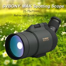 SVBONY 25-75 #215 70 luneta SV41 teleskop refrakcja Zoom cel obserwacja BAK4 pryzmat daleki zasięg wodoodporny w statyw tanie tanio CN (pochodzenie) 70mm 780mm 11 2 20mm 25x-75x Full Multi-Coated 2 8-0 93mm 19mm @25x-15mm@75x 20-35 m 1000m 60- 105ft 1000yds