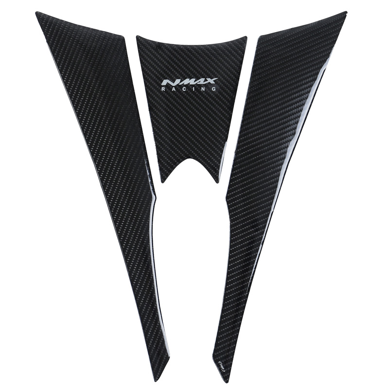 <font><b>Nmax</b></font> 155 Motorcycle Tank Protection Pad 5D Carbon Fiber Tank Side Strip Custom Refit Logo Decoration Decals For <font><b>Nmax</b></font> 155 <font><b>Yamaha</b></font> image