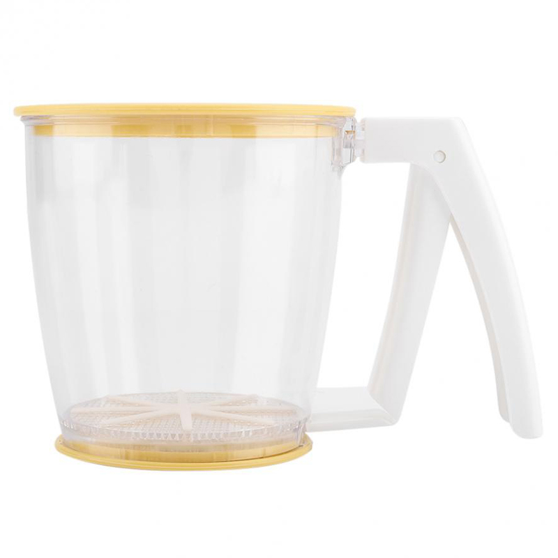 Hand-Held Cup Flour Sifter Strainer Powder Mesh Sieve Baking Supplies Tools With Lid Flour Sifter
