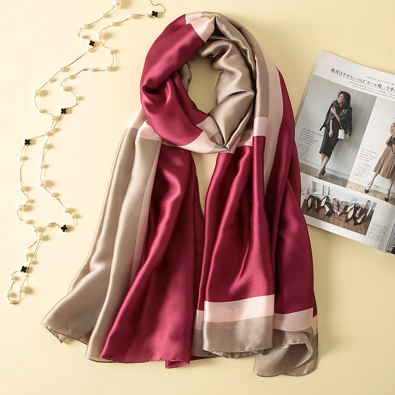 Long Wraps Beach Silk Scarf Pashminas Soft Hot Shawl Summer Scarves Bandana Luxury Brand Elegant Foulard For Female