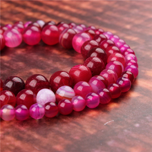 Fashion jewelry 4/6/8/10/12mm Rose Red Agate, suitable for making jewelry DIY bracelet necklace