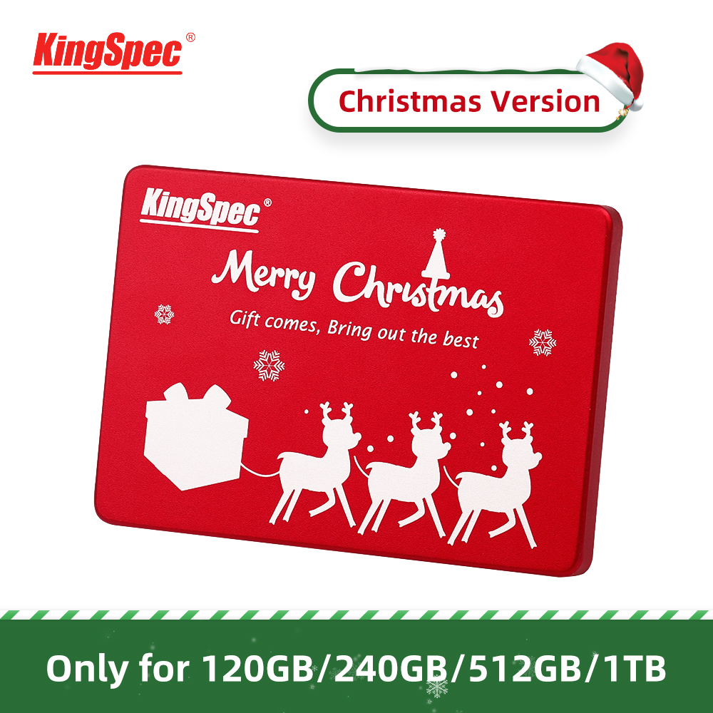 Christmas Gift KingSpec 120GB 240GB SATA3 SSD 512GB 1TB Internal SATA3 Hard Drive Red Metal Case For Desktop Laptop Tablets