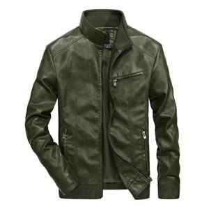 Image 4 - איכות טובה מותג אופנוע עור מעילי גברים 2020 חם טלאי צבאי מעיל בייסבול צווארון טייס עור מעיל מעילים
