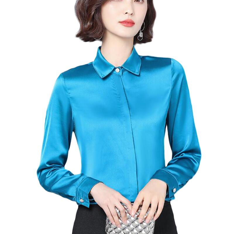 Vogue Silk Blouse Women Shirts Long Sleeve OL Office Work Women Blouses Korean Plus Size Chiffon Blouse Women Tops Blusas Mujer