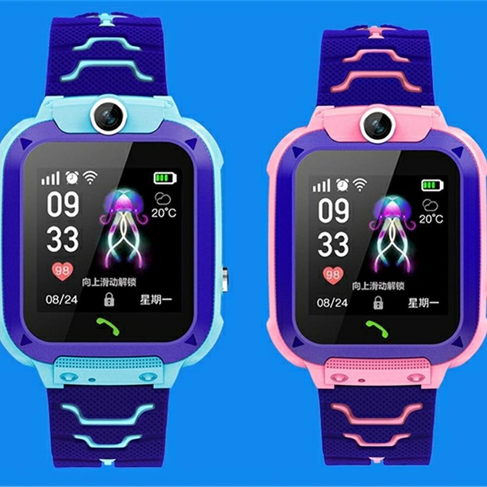 Q12 Детские smart watch дети глобальная версия водонепроницаемый сим-карта вызова фотографировать французский русская версия, испанский, португальский-1