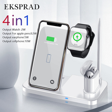 4 in 1 kablosuz şarj cihazı 10W hızlı şarj için iPhone 11/11pro/X/XS/XR/Xs Max/8/8 artı Apple için 5 4 3 2 Airpods kalem Pad