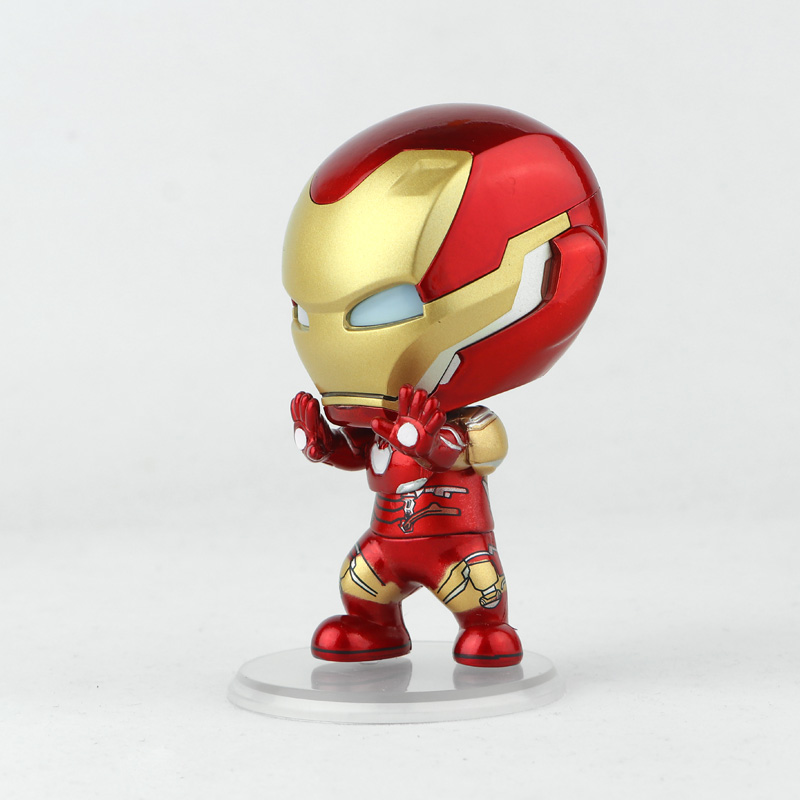 Marvel Cosbaby MK85 Doll  Shaking His Head Model Toy  Avengers Illuminate MK50