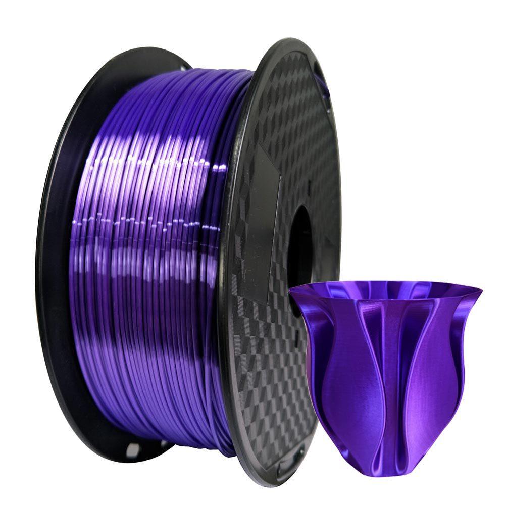 Silk PLA Filament Purple 1 75mm 1kg 3D Printer Filament Silky Shine 3D Pen Printing Materials Shiny Metallic PLA Filament