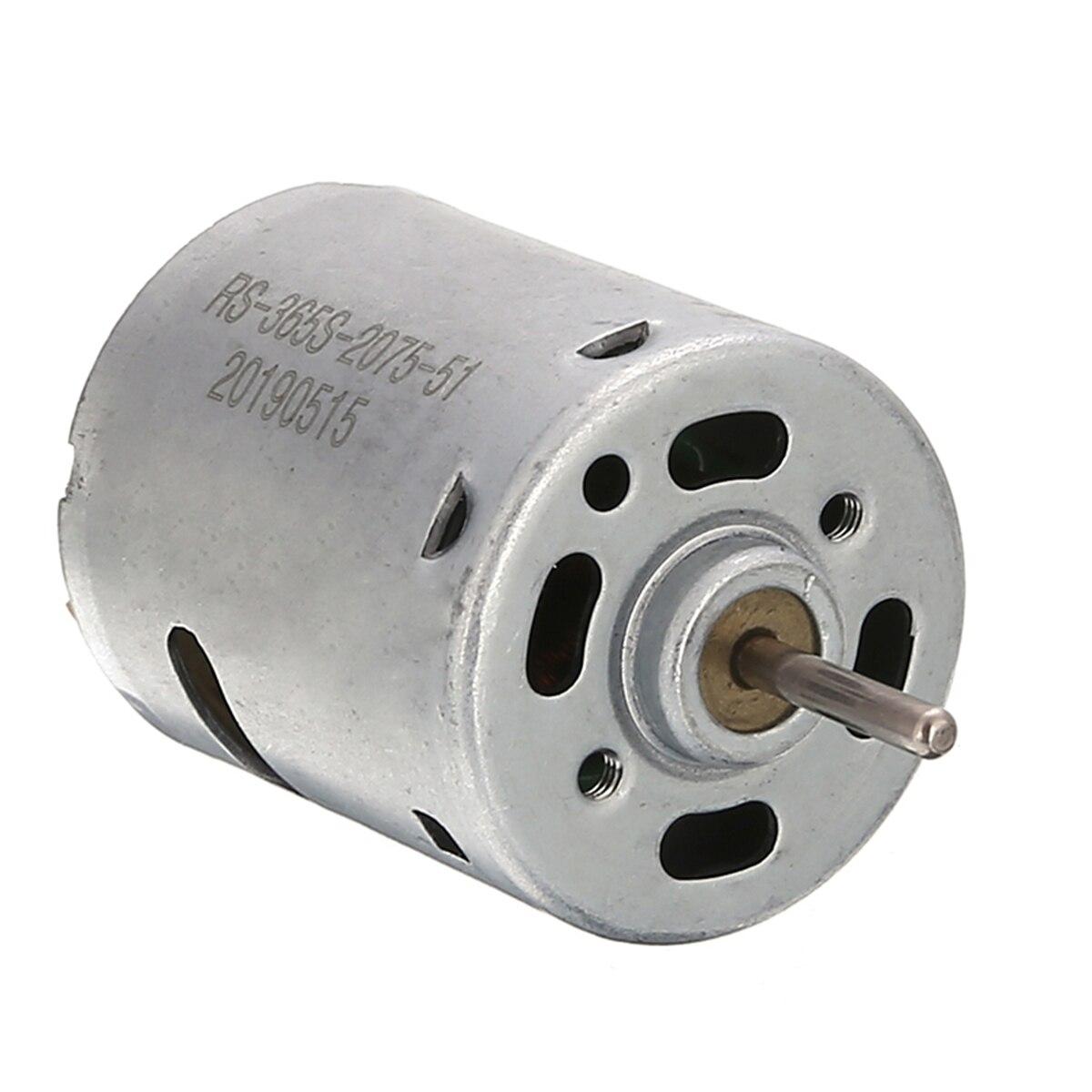 6-12V 5000RPM Mini DC Motor Double Ball Bearings Diameter 27.5mm For DIY Small Electric Drill Motor