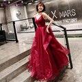 Простое вечернее платье He's Bride, четыре цвета на выбор, без рукавов, с V-образным вырезом, официальное женское платье для банкетов высокого кач...