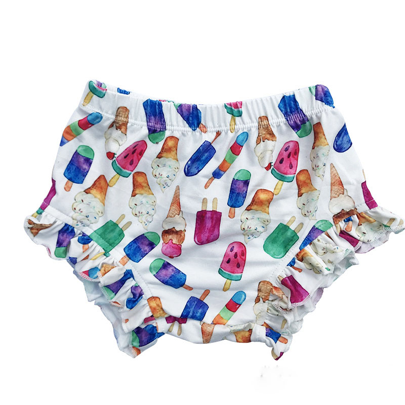 Baby Cotton Ruffle Shorts Lucky Child Flora Bloomers Baby Diaper Cover Newborn Flower Shorts Girls Clothes