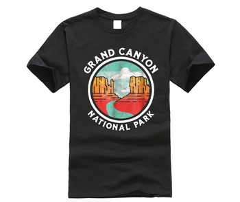 Brand Men Shirt Grand Canyon Vintage Seal Souvenir Graphic T Shirt