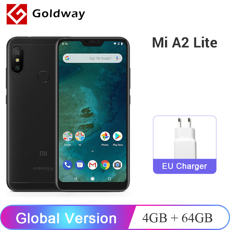 "Global Version Xiaomi Mi A2 Lite 4GB RAM 64GB ROM Mobile Phone Snapdragon 625 Octa Core 5.84"" 19:9 Full Screen Dual AI Camera"