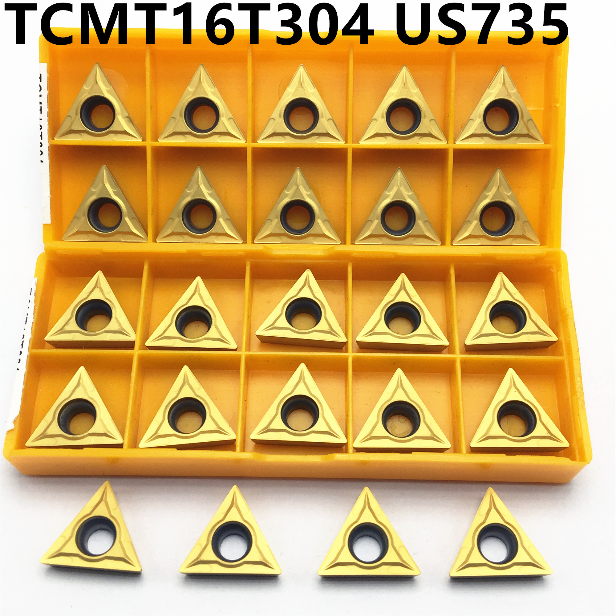 10 Pieces TCMT16T304 US735 Carbide Insert Internal Turning Turning Blade TCMT 16T304 Lathe Tool CNC Cutting Tool
