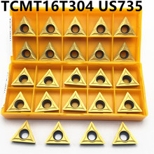 10 pieces TCMT16T304 US735 Carbide insert internal turning turning blade TCMT 16T304 lathe tool CNC cutting tool 50pcs square tcmt16t304 md turning carbide insert long time cutting quality