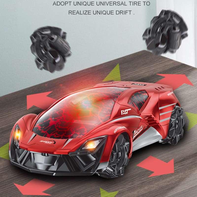 2,4G трещины дистанционного Управление мин дрейфующие р/у автомобилем трюк многонаправленная 360 Вращающийся электрический спортивный автом...