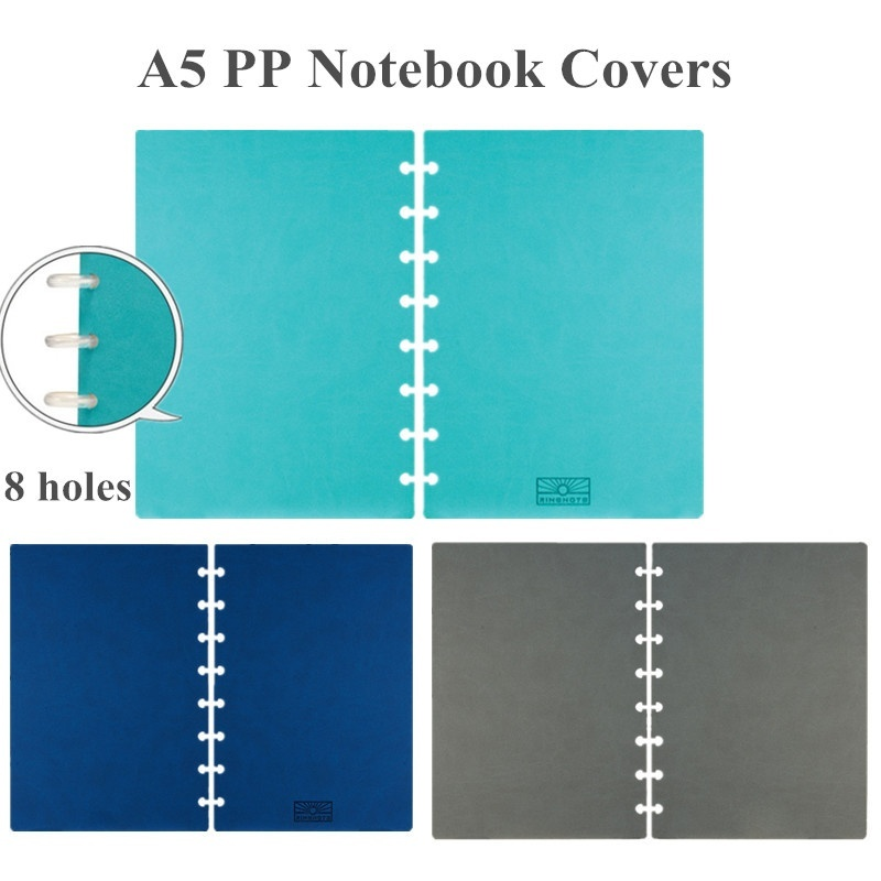 A5 Notebook Covers With 8 Mushroom Holes For DIY Daily Planner Loose Leaf Notebook Covers Discbound Accessories A2002-1