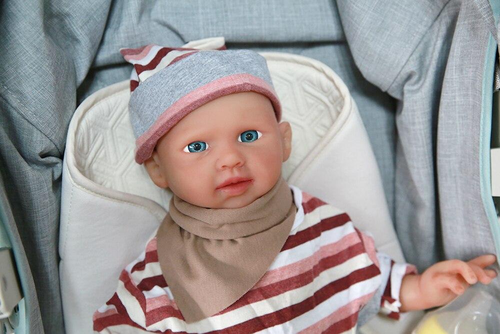 IVITA WG1520 48 см 3500 г силиконовые возрождающиеся Младенцы реалистичные голубые глаза открытые мягкие куклы для детей реалистичные детские игру...