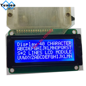 Image 5 - free shipping 2PCS small mini size 2004 20*4 lcd display 77*47mm Blue 5v 2004E instead WH2004D PC2004 C
