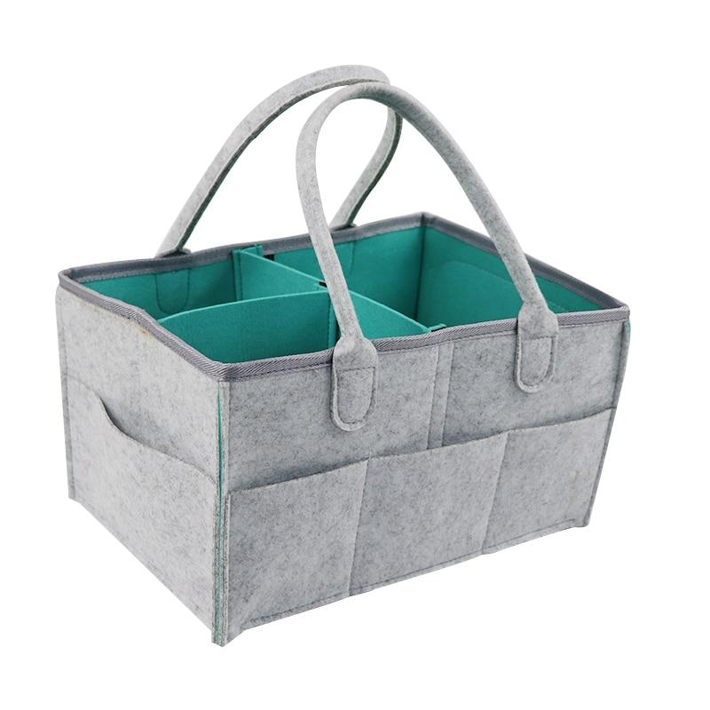Baby Diaper Caddy Organizer Folding Storage Bin For Changing Table Tote Bag Portable Car Travel Storage Basket