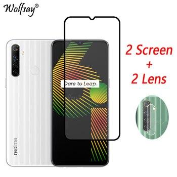Перейти на Алиэкспресс и купить Полное покрытие закаленное стекло для Oppo Realme 6i Защита экрана для Oppo Realme 6i стекло для камеры Oppo Realme 6i защитное стекло