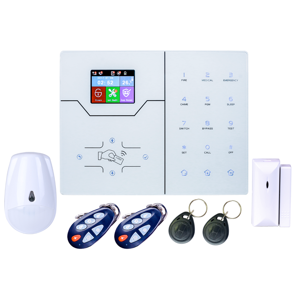 DIY Alarm 4G GSM Network HA-VGT TCP Ip Alarm System Smart Security Home Alarm System With WebIE And App Control