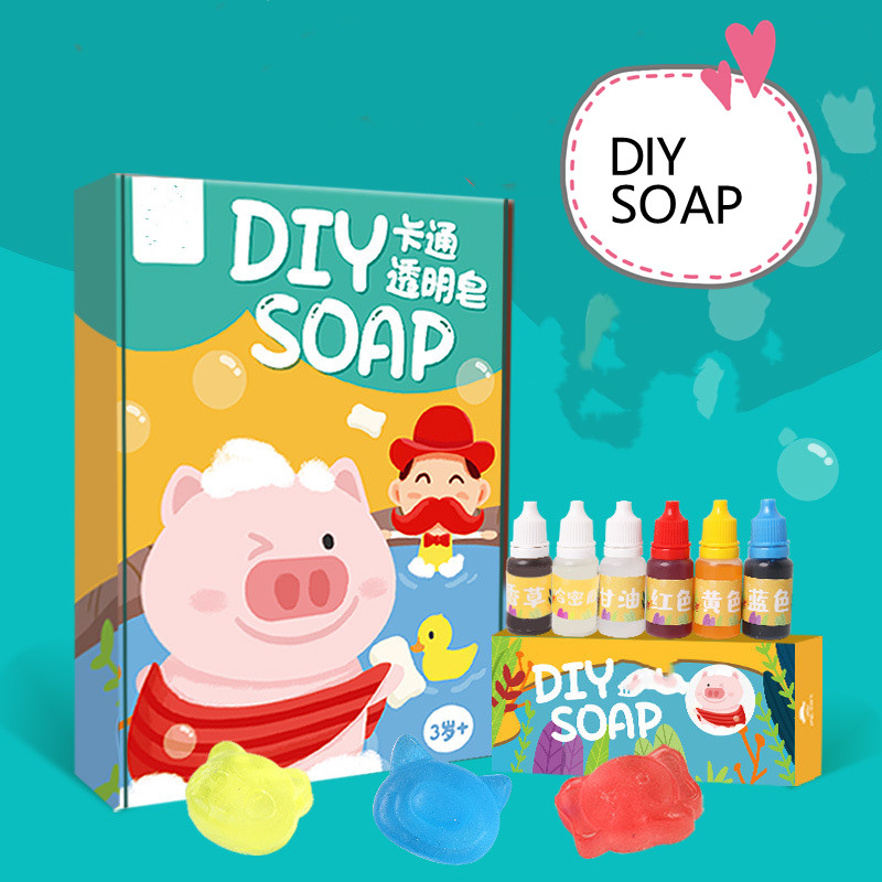 Hot Sale DIY Making Soap Kit Gift Set OEM Handmade Organic Cartoon Soap Yourself Make Your Own Soap