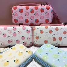 For Switch Storage Bag Summer Fruit Hard Cover Shell Carrying Case Free Shoulder Strap for Nintendo Switch Protective TPU Shell