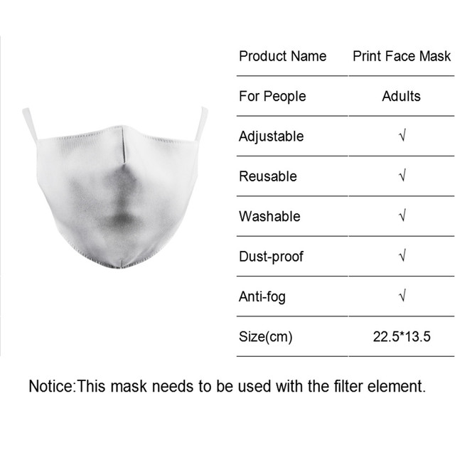 Cute Panda PM2.5 Reusable Adult Cartoon Anime Mask Breathable Protective Face Mouth Mask bacteria proof Flu Women Men Mask 1