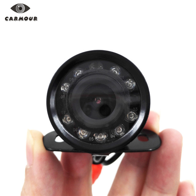 CARMOUR 9 IR led Waterproof Car Rear View CMOS Camera Butterfly Parking Backup Reversing Cam without Parking Line(no cable)