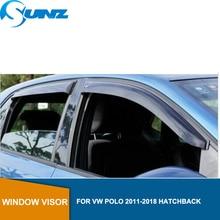 цена на Side window deflectors For  VW POLO 2011-2018 Window Visor deflector rain guard For VW Vento Ameo HATCHBACK Accessories SUNZ