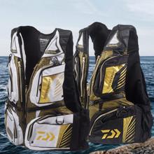 Nowa wysokiej jakości wędkarska kamizelka ratunkowa przenośna wędkarska kamizelka pływakowa profesjonalna tratwa rybacka morska kamizelka wędkarska męska kurtka pływacka tanie tanio CN (pochodzenie) Pełna Poliester Warmthtm Wodoodporna Koszule D160 Camping i piesze wycieczki Pasuje prawda na wymiar weź swój normalny rozmiar