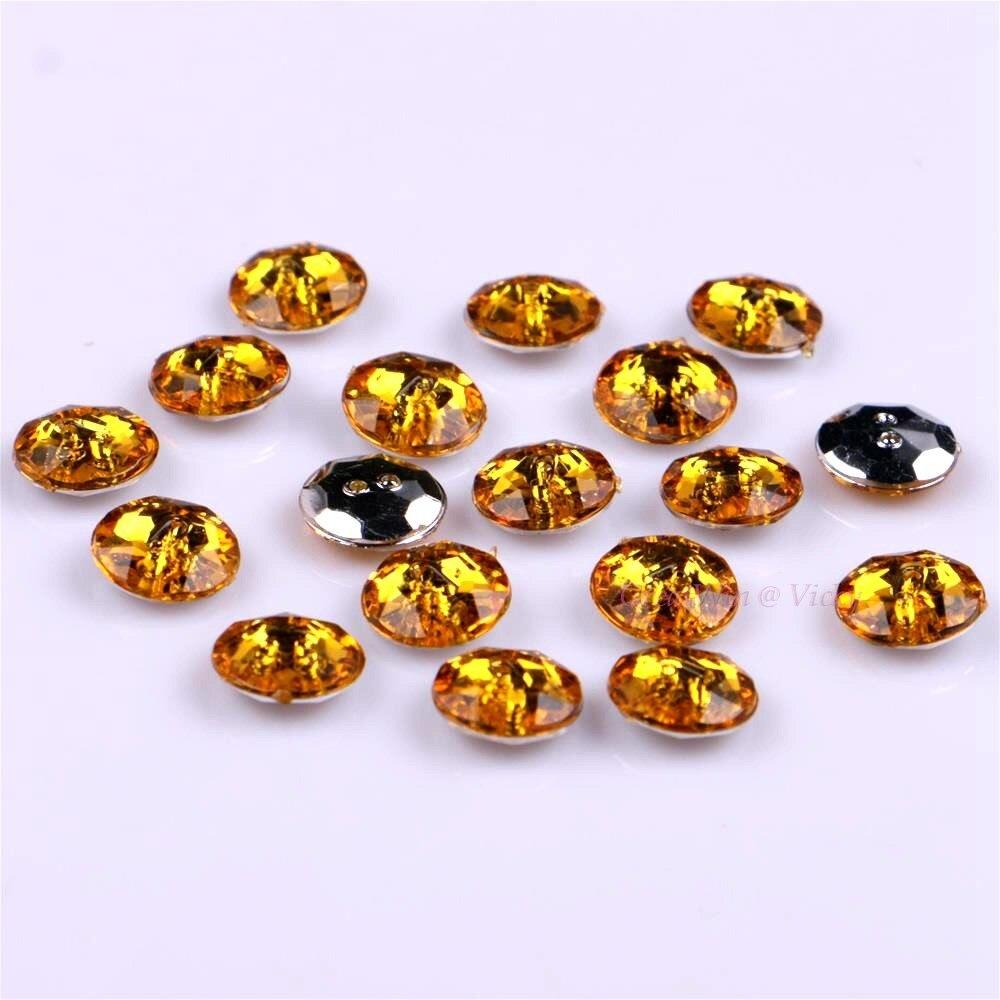 Naranja y Amarillo Botones 11mm X 10