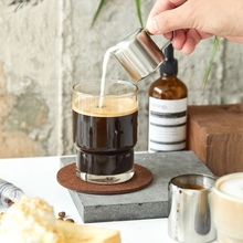 Portable Coffee Supplies Kitchen Cafe Stainless Steel Coffee Pull Flower Cup With Pointed Mouth Coffee Stencils For Cafe