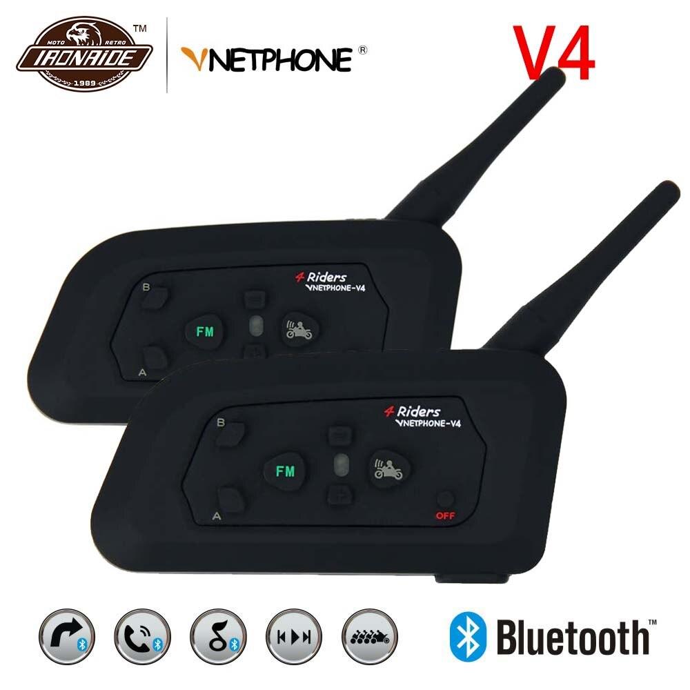 VNETPHONE 2 Set Motorcycle Bluetooth Helmet Headsets Intercom Motorcycle Intercom Helmet Intercom Wireless Intercomunicador