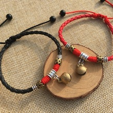 Bohemian hollow out beads Anklets For Women Vintage Handmade Rope Bell Anklet Bracelet on Leg Beach Ocean Jewelry 2019 charming faux ruby bell anklet for women