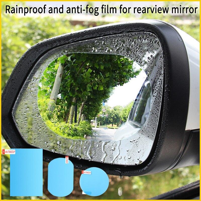 Автомобильное зеркало заднего вида зеркальная защитная пленка анти-туман оконные прозрачные непромокаемые зеркало заднего вида защитная ...