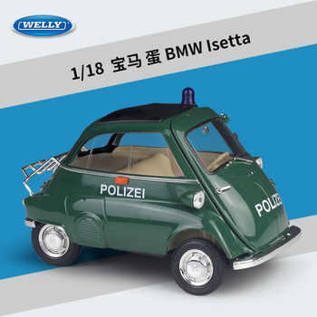 6 Styles WELLY Diecast 1:18 Scale Model Car Classic Car BMW Isetta Metal  Alloy Toy Car For Children Gift Collection Decoration 1 18 diecast model for ford tourneo brown mpv alloy toy car miniature collection gift