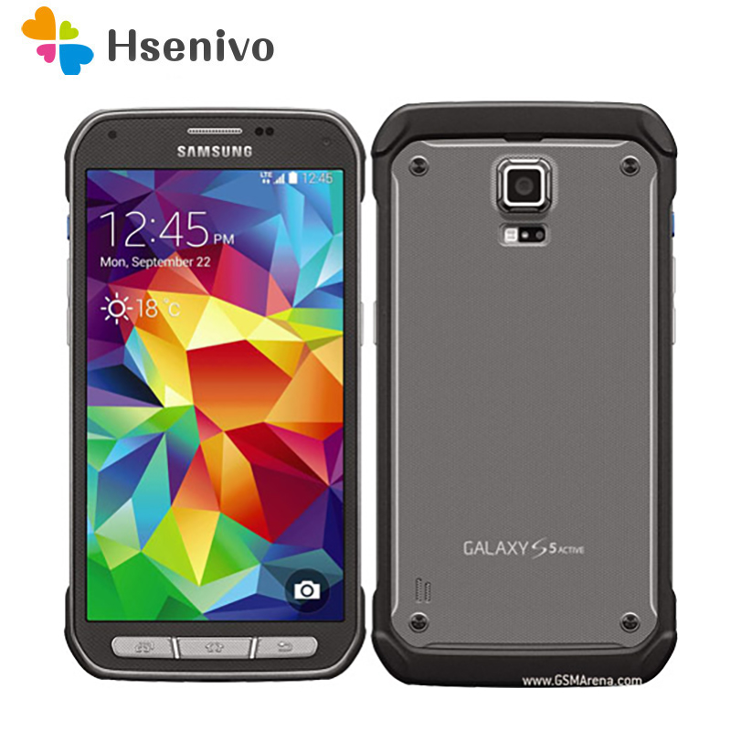Original Samsung Galaxy S5 Active G870 Smartphone 5.1 Inches Touchscreen 16 MP Android Refurbished Cellphone 16GB ROM Free Ship
