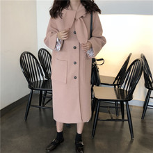 Women Winter Long Overcoat Parka Coat with Buttons Pocket Elegant Casual Bow Tie Collar Plus Size Streetwear Manteau Femme Hiver(China)