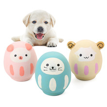 Cute Pig Sheep Grunting Squeak Latex Pet Chew Toys for Dog Squeaker Training Products