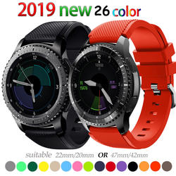 Шестерни S3 Frontier группа для samsung Galaxy часы 46 мм band 22mm группа Классический силикон Спорт pulseira Корреа браслет ремень