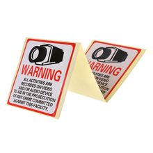 Decal Signs Label Warning-Stickers Security-Camera Safety 8PCS Self-Adhensive In-Use