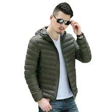 Factory Sale Men's Lightweight 90% Down Jacket Hooded Puffer Parka Coat New