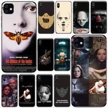 Cichy Lamb Hannibal etui na telefon iPhone 11 12 pro XS MAX 8 7 6 6S Plus X 5S SE 2020 XR miękki silikonowy pokrowiec funda shell