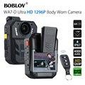 BOBLOV WA7-D 64GB Ambarella A7 32MP HD 1296P носимая камера безопасности видео рекордер 4000 мАч батарея с пультом дистанционного управления