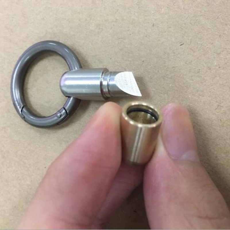 Self Defense Outdoor EDC Stainless Steel Multi-function Portable Mini Tool Key Ring Pendant Tool Capsule Knife Tiny Cutting Tool